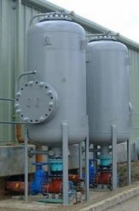 Photo of surge tanks in plant