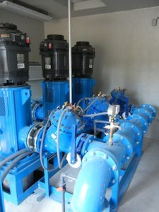Photo of pump with control valves