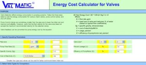 Image of Energy Cost Calculator for Valves