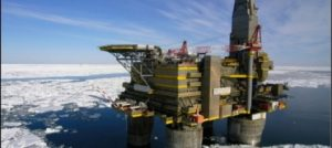 Photo of Oil Rig in Ice Environment