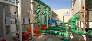 Pumps in cooling tower photo
