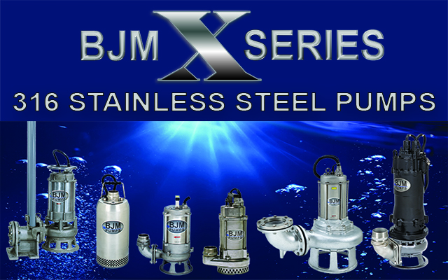 Corrosion Resistant 316 Stainless Steel Submersible Pumps from BJM Pumps