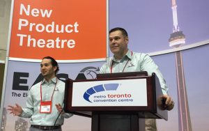 Jeff Clarkin, Inpro/Seal® Market Development Manager, and Robby Tejano, Inpro/Seal Product Engineer, presenting The Next Generation of Shaft Grounding at the EASA New Product Theatre