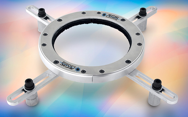 New Universal Mounting Brackets Simplify Installation of AEGIS iPRO and WTG Shaft Grounding Rings on Large Motors, Generators, and Wind Turbines