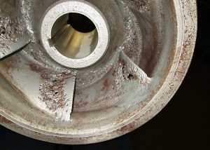 Cavitation damage should be prevented by changing the pumping system characteristics