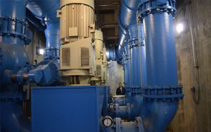 dynamatic eddy current drives installed in Oak Lawn Booster Station