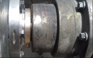A split custom engineered Inpro/Seal Bearing Isolator provides permanent bearing protection on a Sag Mill Gearbox at a copper mine in the Southwest United States.