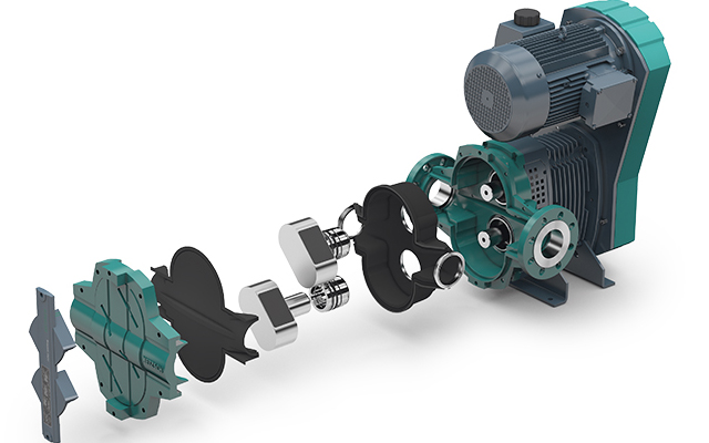 netzsch tornado t2 rotary lobe positive displacement pump exploded view