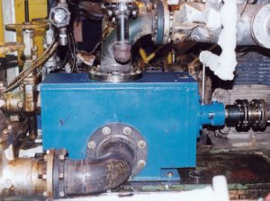 Fig 1. Power plant and a Re-Engineered Pump installed with existing pipe runs and pipe spools.