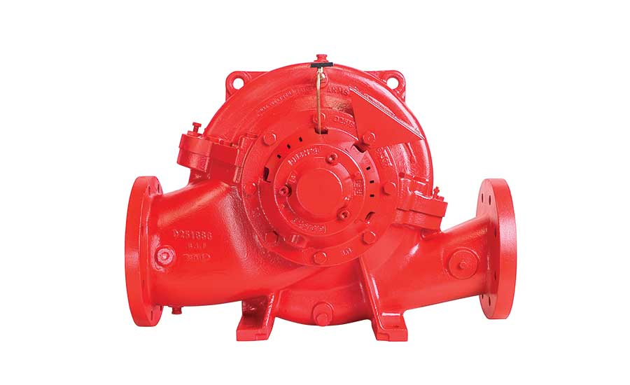 Armstrong Fluid Technology updates its Fireset Horizontal Split Case Pump line with two new models: a 5x4x10NF fire pump for installs requiring 500 gpm at pressures from 55 to 167 psi and a 8x6x15 option for applications requiring flows between 1,500 and 2,000 gpm at pressures from 54 to 168 psi. The new Fireset HSC pumps have double suction design for operating efficiency and high-flow performance, right- or left-hand suction configuration with electric-driven pumps for adapting to mechanical room piping arrangements and a compact design for easy installation and maintenance.
