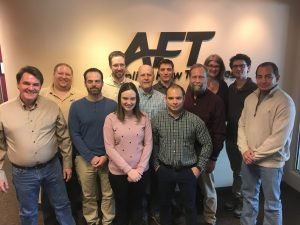Applied Flow Technology is proud to have eleven full-time engineers as well as a valued intern on the team. From left to right: (back) Ben Keiser, Scott Lang, Dylan Witte, Susan Hammond, Mitch Paterson (intern) (middle) Trey Walters, John Rockey, Jeff Olsen, Dave Miller, Reinaldo Pinto (front) Stephanie Villars, Rafael Hoyer
