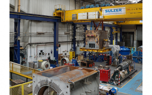 Sulzer The 23-tonne motor was tested and repaired