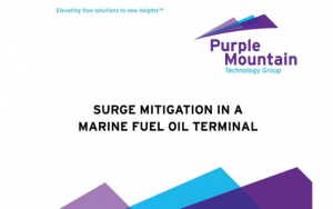 AFT Surge mitigation in a marine fuel oil terminal