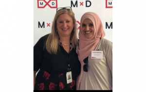 Aneesa Muthana, President and CEO of Pioneer Service, Inc. (right) and Chandra Brown, CEO at MxD, The Digital Manufacturing Institute