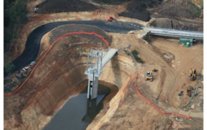 KSB Construction work on the Australian $45 million Mardi Dam Upgrade.