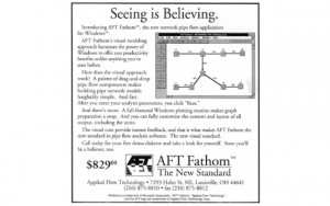 AFT First advertisement for AFT Fathom 1.0 in April 1994