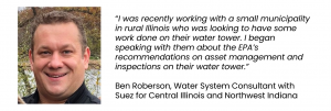 Ben Roberson, Water System Consultant with Suez for Central Illinois and Northwest Indiana