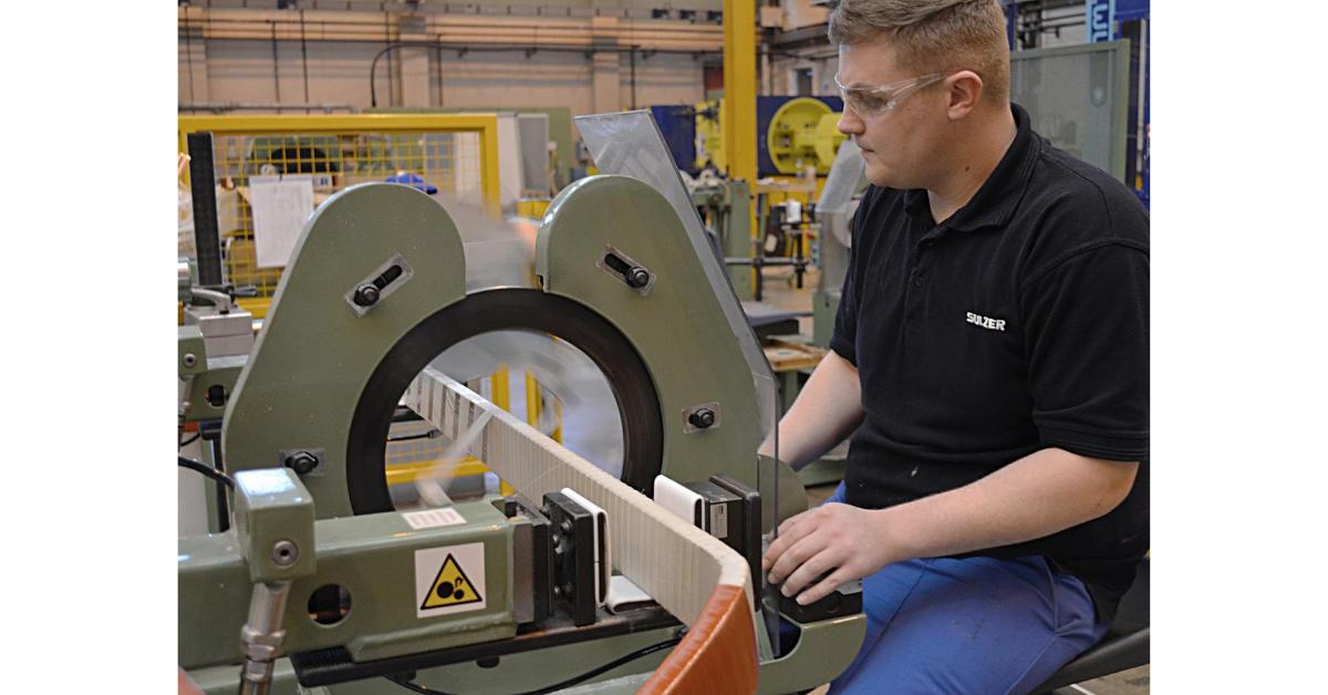 Sulzer Using the latest insulation technology gas compressor motor