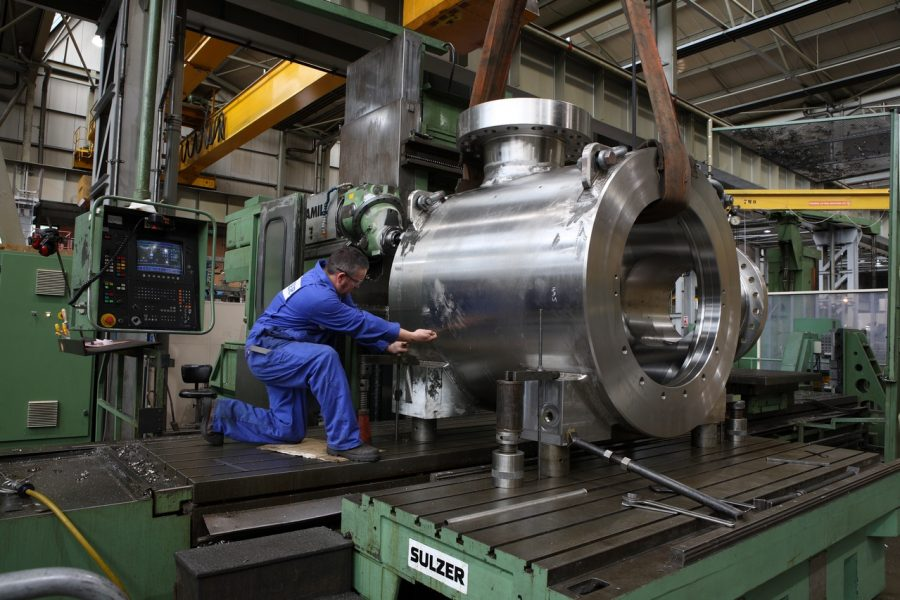 Sulzer Experienced machine tool operators are key to setting up pump