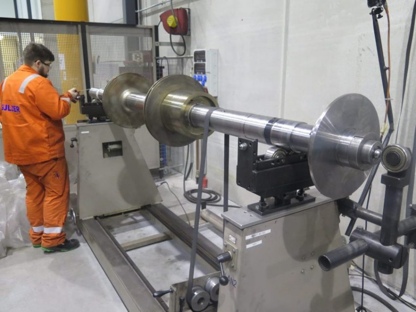 Sulzer Pic2 Setting up the de-staged rotor