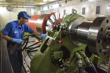 Sulzer The installation minimizes the time for large rotors
