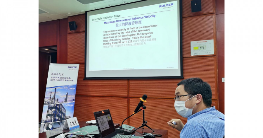 Sulzer Chemtech's teams in China have restarted offering customized workshops seminars for manufacturing