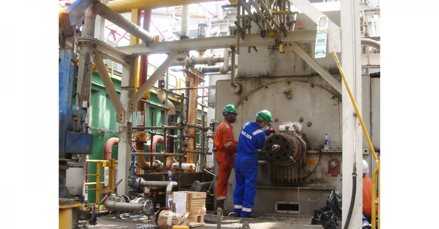 Sulzer The cramped location around the generator posed additional challenges
