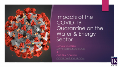 Impacts of COVID-19 on the Water & Energy Sector