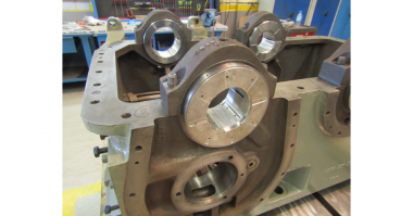 Sulzer New white metal bearings were reverse engineered for an exact fit