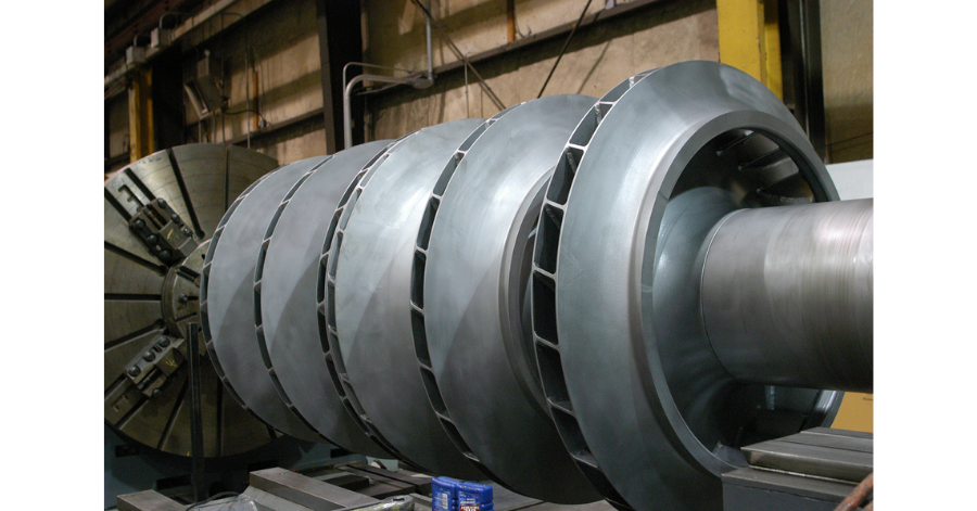 Sulzer Spare compressor rotors can be exchanged quickly to minimize downtime rotating equipment