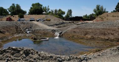 Tsurumi wildlife restoration work in northern California submersible pumps