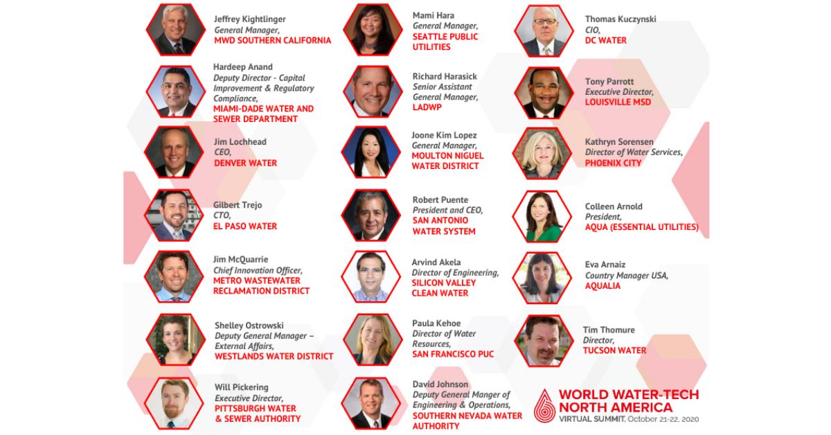 World Water-Tech North America Summit Utilities speakers