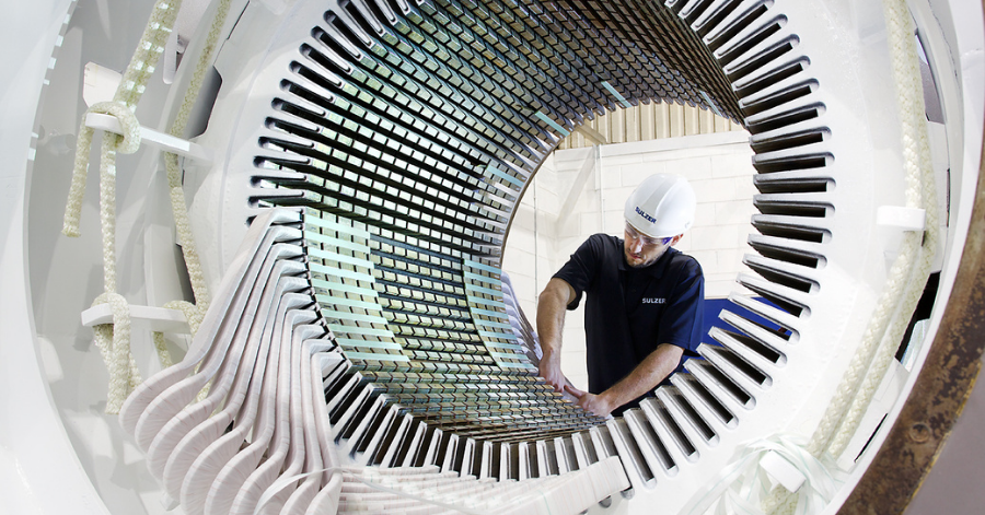 Sulzer Stator rewinds extend the service lives of generators and large motors