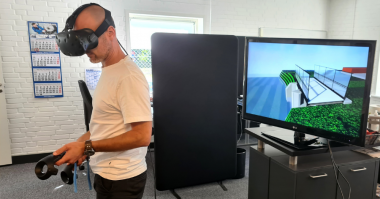 Sulzer's virtual reality simulation of the installation helped other contractors visualize the site. Climate protection