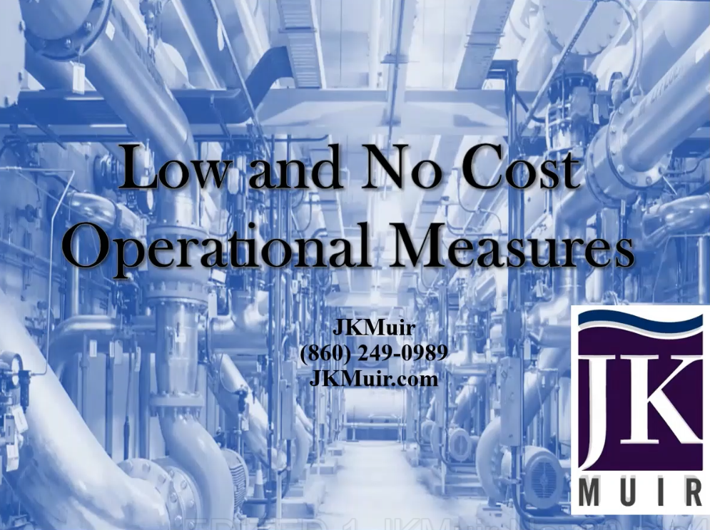 Low and No Cost Measures for Water and Wastewater Treatment Plants [on-demand webinar by jkmuir]