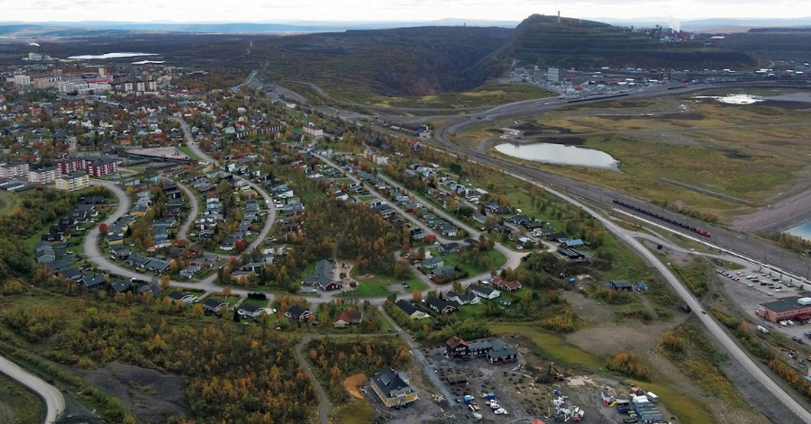 ABB Overview of Kiruna mine location, image courtesy of LKAB and photographer Frederic Alm