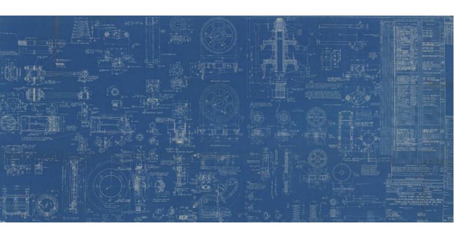 Triangle Pumps sub blue prints World War II