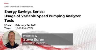 ABB Energy Savings Series Usage of Variable Speed Pumping Analyzer Tools (1)