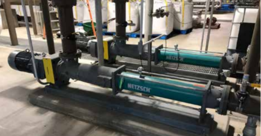 NETZSCH NEMO® 090 BY pumps in the Boiler Building provide a feed to the Struvite production.