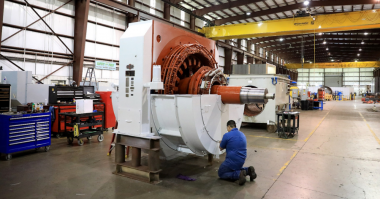 Sulzer Staff at the Pasadena Service Center worked into the night to complete the repair High Voltage motor