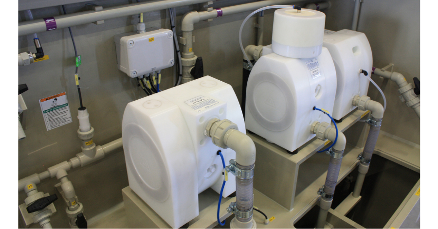 PSG The design of E-Series AODD Pumps features an optimized flow pattern
