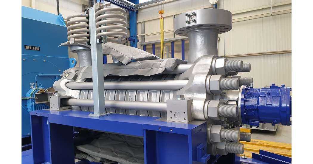 Sulzer Feedwater pump without insulation