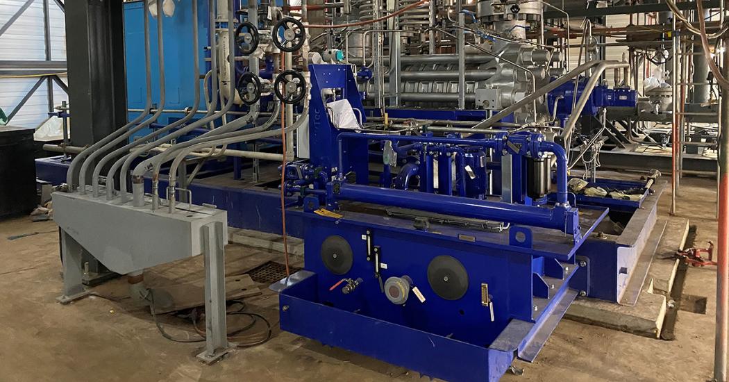 Sulzer Site installation of feedwater pump
