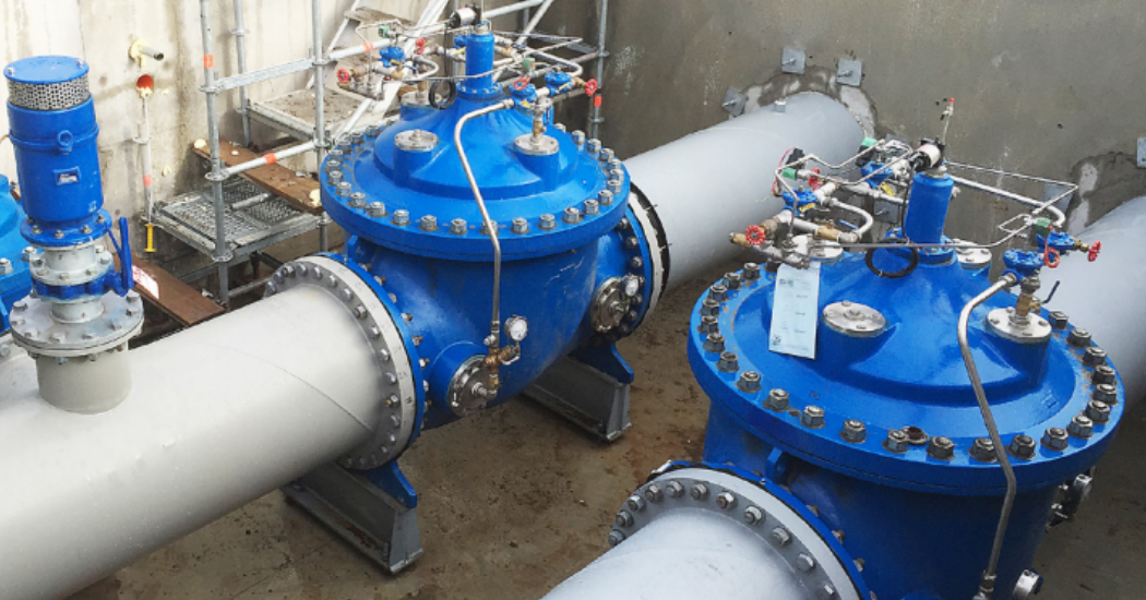 Cla-Val Application of large diameter PRV's in parallel to control pressure (1)